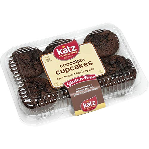 Katz Gluten Free Chocolate Cupcakes | Dairy Free, Nut Free, Soy Free, Gluten Free | Kosher (1 Pack of 6 Cupcakes, 12.5 Ounce)