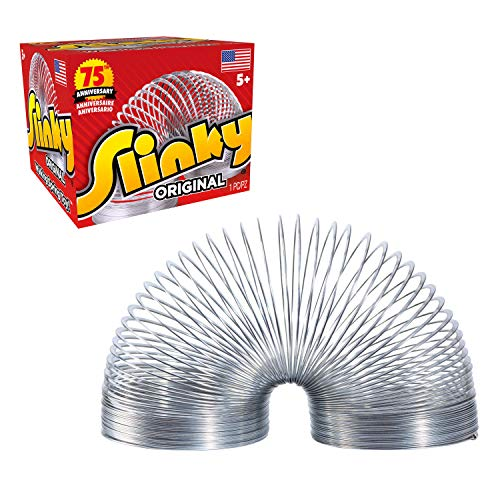 The Original Slinky Walking Spring Toy, Metal Slinky, Easter Basket Stuffers, Toys for 3 Year Old Girls and Boys, Party Favors, Fidget Toys