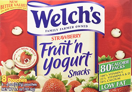 Welch's Strawberry Fruit'n Yogurt Snacks 8 Pouches