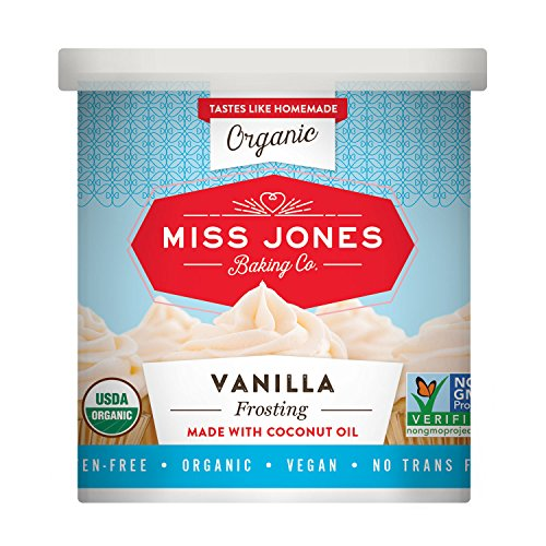 Miss Jones Baking Organic Buttercream Frosting, Perfect for Icing and Decorating, Vegan-Friendly: Vanilla (Pack of 1)