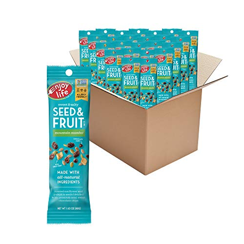 Enjoy Life Foods Seed and Fruit Mix, Peanut Free Trail Mix, Mountain Mambo, 39.12 Ounce (Pack of 24)