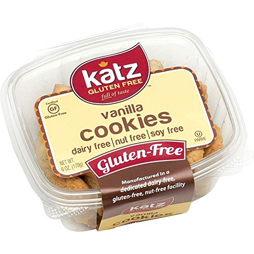 Katz Gluten Free Vanilla Cookies | Dairy, Nut, Soy and Gluten Free | Kosher (3 Packs, 6 Ounce Each)
