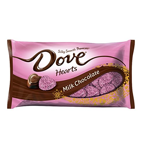 DOVE PROMISES Valentine Milk Chocolate Candy Hearts 8.87-Ounce Bag