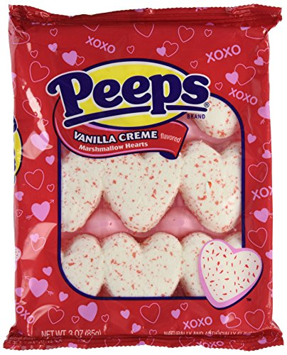 Marshmallow Peeps Vanilla Creme Hearts 9ct.