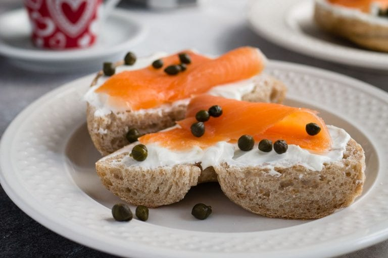Bagel and lox nut free breakfast ideas