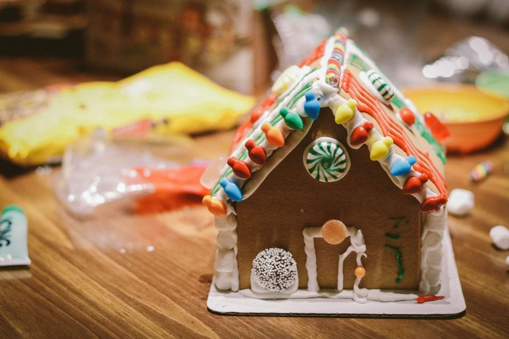 Gingerbread house nut free holiday treats