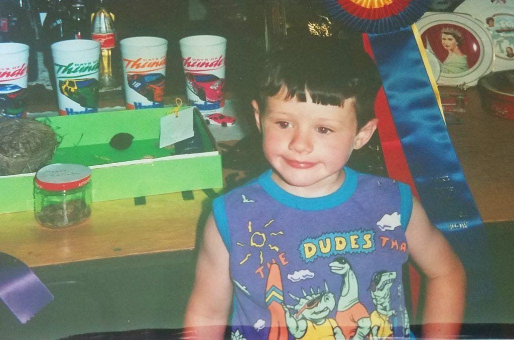 Childhood Mike at county fair, growing up with multiple food allergies